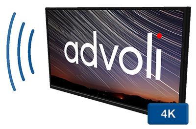 Advoli HDBaseT TV With Sound and 4K