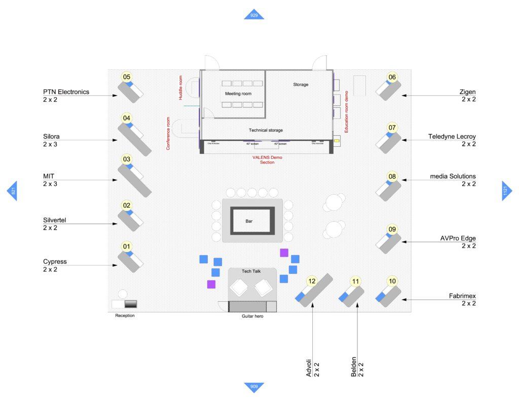 advoli stand at HDBaseT booth at InfoComm 2019