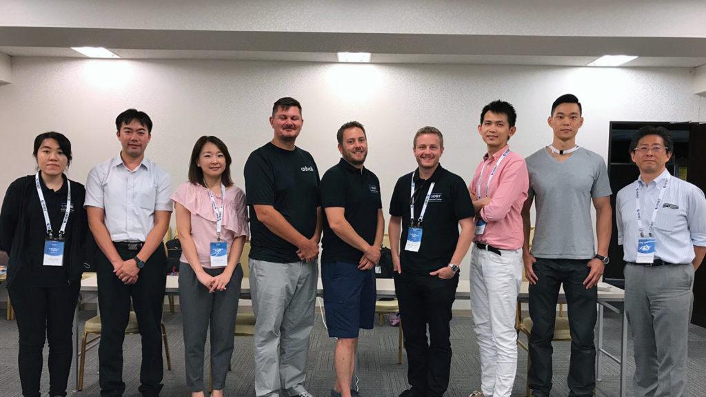 Team 1 of HDBaseT Plugfest 2019 with Optoma - Aten, Atlona and advoli