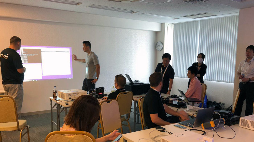 All companies busy testing the various projectors of Optoma - advoli testing UART and CIR controls.