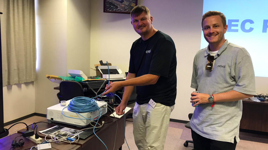 Clas and Paul of advoli at NEC Plugfest 2019