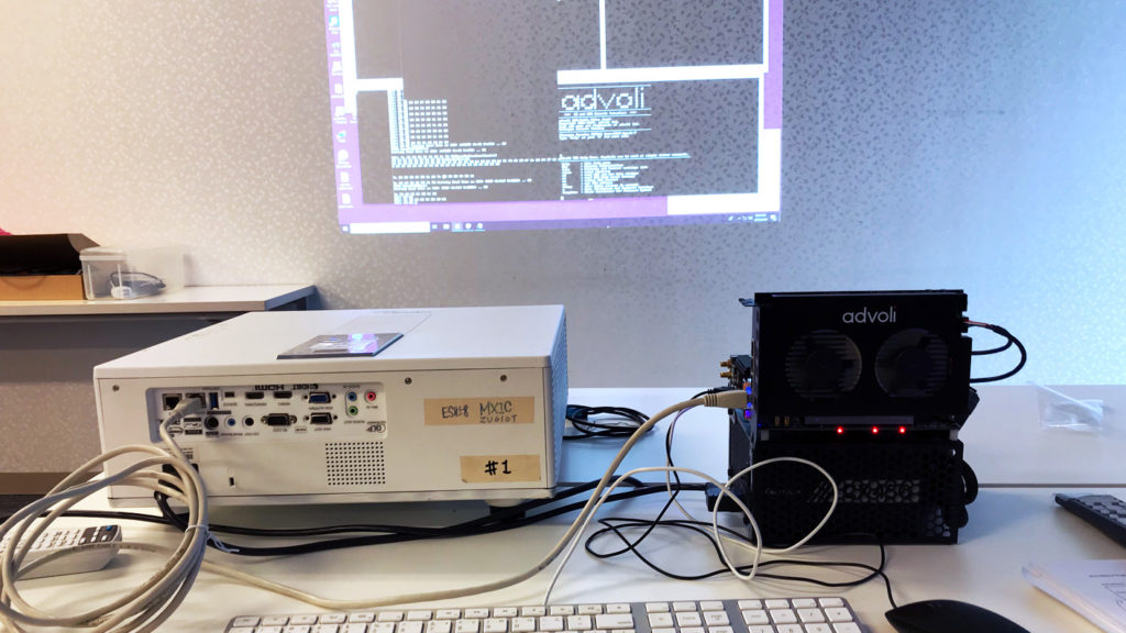 Testing UART commands with advoli TB4 Standard and Optoma projector