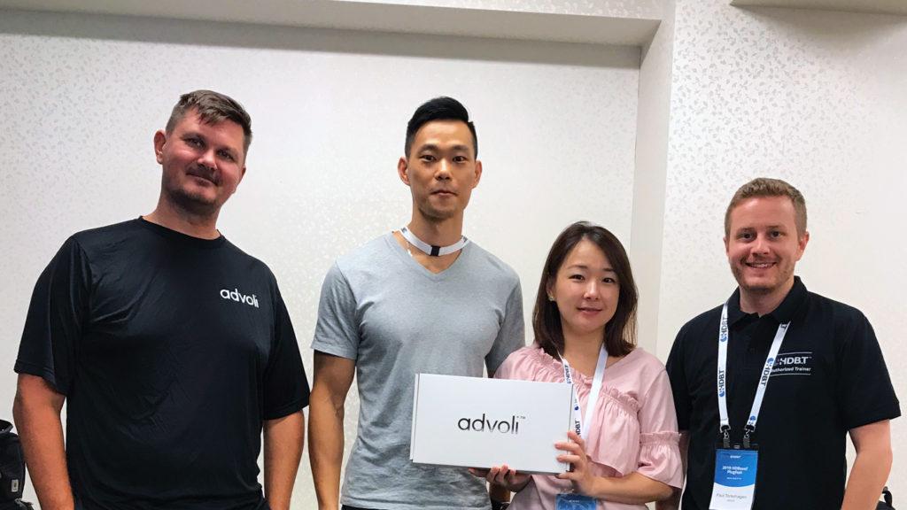 team Optoma with team advoli