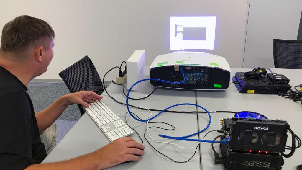 Clas testing Epson projector interoperability with advoli TB6 Standard